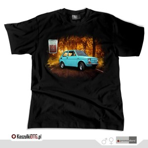 Turkusowy Fiat 126p *black*