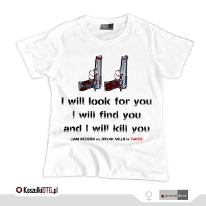 Taken - phone call quote (t-shirt damski)