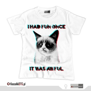 Grumpy Cat 3D (t-shirt damski)