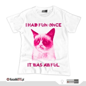 Grumpy Cat Pink Princess (t-shirt damski)