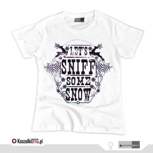 Let's sniff some snow - *3D version* (t-shirt damski)