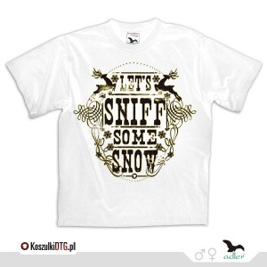 Let's sniff some snow - *gold*