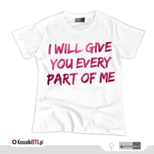 I will... *white* (t-shirt damski)