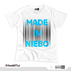 Made in NIEBO *blue* (t-shirt damski)