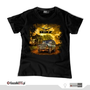 UAZ 469 - OFF ROAD LEGEND *black* (t-shirt damski)