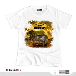 UAZ 469 - OFF ROAD LEGEND *white* (t-shirt damski)