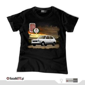 Fiat 127 *black* (t-shirt damski)