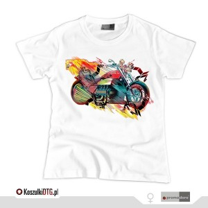 MOTORCYCLE VARIATION v.1 *white* (t-shirt damski)