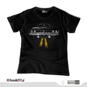 Plymouth BARRACUDA '71 *black* (t-shirt damski)