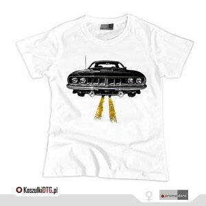 Plymouth BARRACUDA '71 *white* (t-shirt damski)