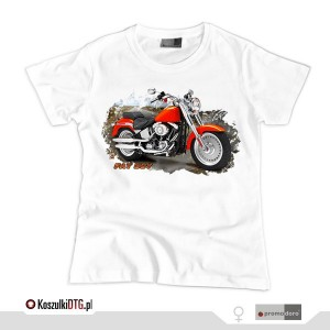 Harley Davidson FAT BOY *white* (t-shirt damski)