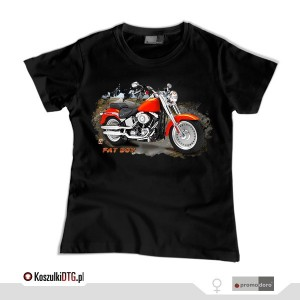 Harley Davidson FAT BOY  *black* (t-shirt damski)