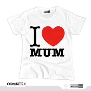 I LOVE MUM *white* (t-shirt damski)
