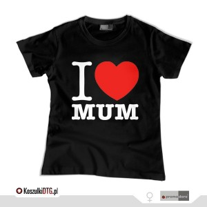 I LOVE MUM *black*  (t-shirt damski)