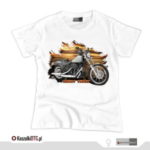 Harley Davidson Softail NIGHT TRAIN *white* (t-shirt damski)