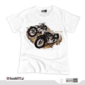BMW R-35  *white* (t-shirt damski)