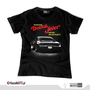 DODGE FEVER / 1968 Dodge Charger RT (t-shirt damski)