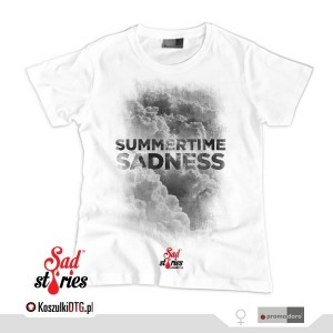 Summertime Sadness Black *white* (t-shirt damski)