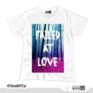 Failed at love *white* (t-shirt damski)