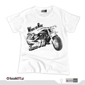 Harley Davidson FAT BOY B&W *white* (t-shirt damski)