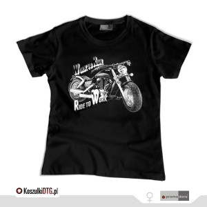 Harley Davidson FAT BOY  B&W *black* (t-shirt damski)