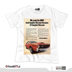 AMC AMX 1970 Advertising (t-shirt damski)
